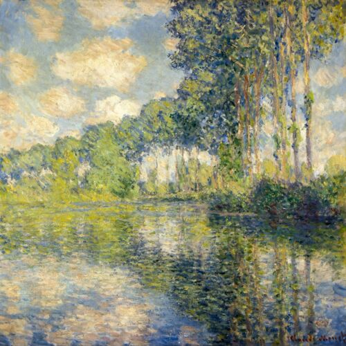 Poplars on the Epte by Claude Monet Giclee Museum Size Repro on Canvas