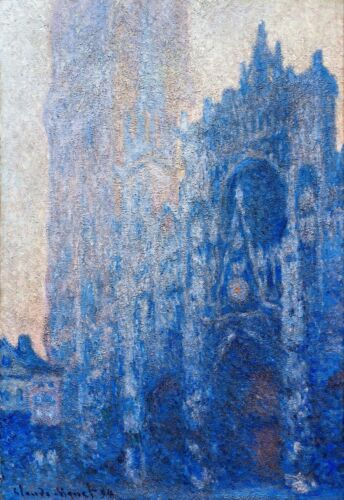 Rouen Cathedral Façade and Tour d'Albane by Claude Monet Museum Size Repro
