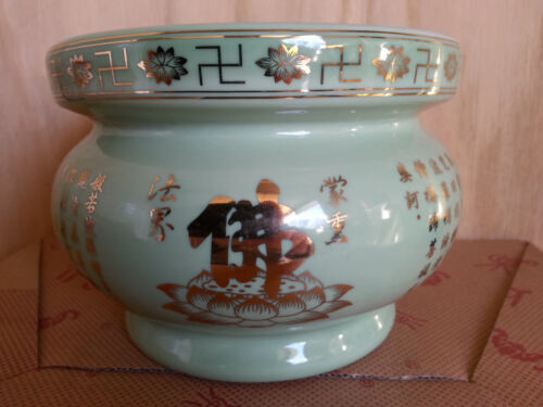 Collection chinese Buddha Porcelain incense burner Bowl 5.5 R