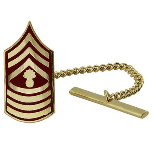 Marine Corps Tie Tack Tie Tac MGYSGT Master Gunnery Sergeant   (Made in USA)Marine Corps - 66531