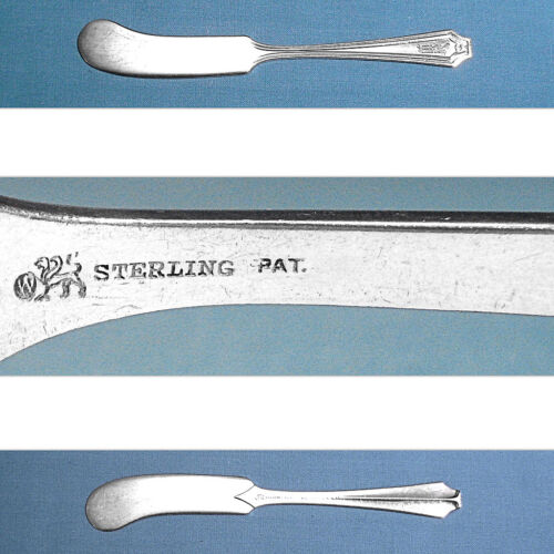 WHITING MFG STERLING FLAT HANDLE BUTTER SPREADER(S) ~ KING ALBERT ~ MONO W