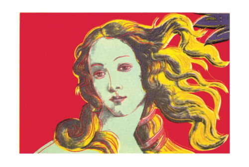 Birth of Venus (Red) by Andy Warhol Art Print Offset Lithograph Poster 27.5x39.5