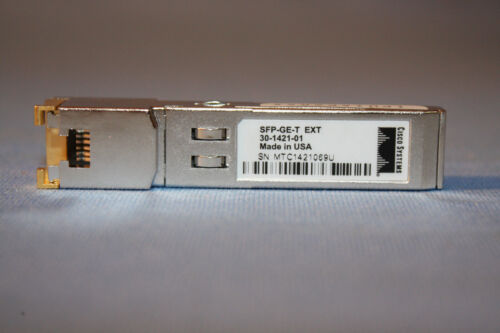 CISCO SFP-GE-T EXT 30-1421-01 SFP TRANSCEIVER MODULE PICKUP WELCOME