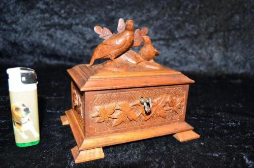 origenell Black Forest Wooden Carved Jewellery Box or Casket 1890