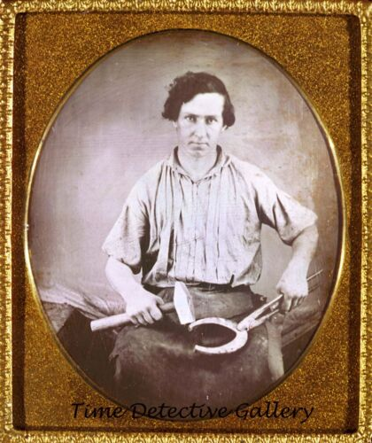 Daguerreotype Image of a Blacksmith / Ferrier - 1850s -THIS IS A PHOTO REPRINT