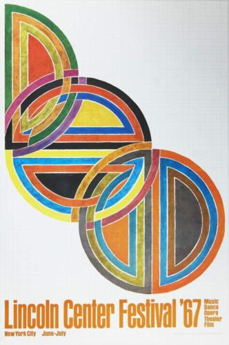 Lincoln Center Festival, 1967 by Frank Stella Offset Lithograph Art Print Poster