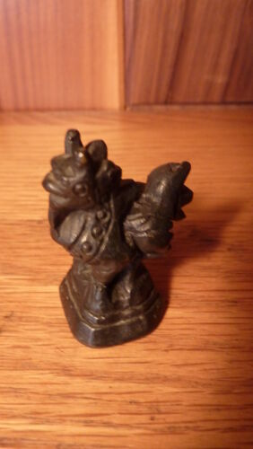 VINTAGE BURMESE SOLID BRONZE OPIUM SCALE WEIGHT - HINTHA BIRD FIGURINE #2