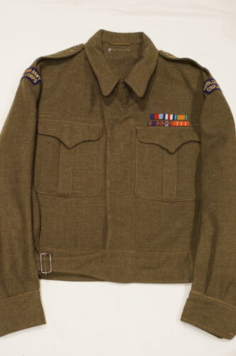 Canadian RCACC Chaplain Corps Service Battle Dress Uniform 1951 Named McRitchieOther Militaria - 135