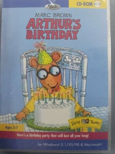 MARC BROWN ARTHUR'S BIRTHDAY LIVING BOOKS FOR CHILDREN AGE 3-7 PC AND MAC NEW