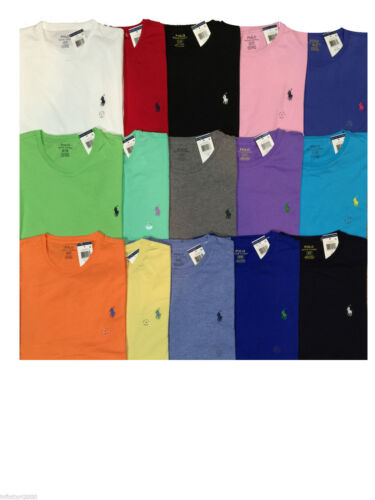 NEW Polo Ralph Lauren Brand New With Tag STANDARD FIT CREWNECK Logo T Tee Shirt