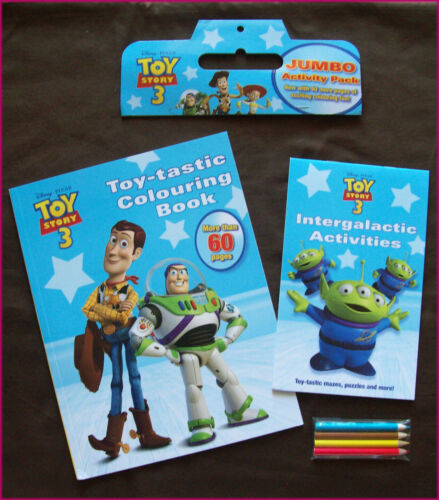 DISNEY PIXAR TOY STORY 3 - JUMBO COLOURING & ACTIVITY PACK - Books & Pencils Set