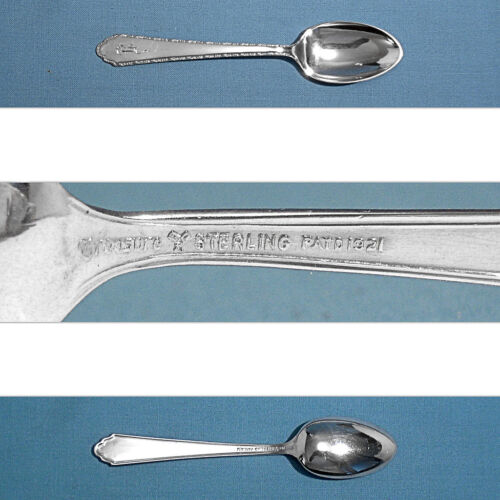LUNT STERLING DEMITASSE SPOON(S) ~ WILLIAM & MARY ~ MONO R