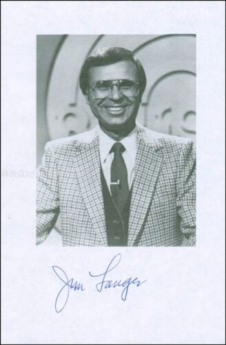 JIM LANGE - PRINTED PHOTOGRAPH SIGNED IN INK