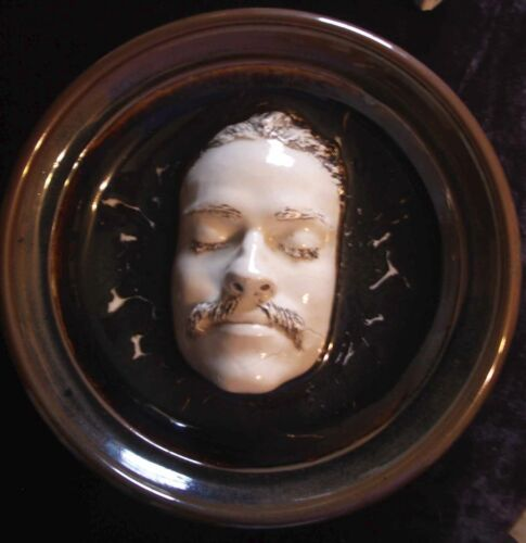 Death Mask, Life Mask, Clay Ceramic Bowl, Unique, Unusual, Signed
