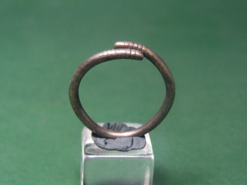 ANCIENT SILVER SNAKE RING EGYPTIAN LATE PERIOD 716-30 BC