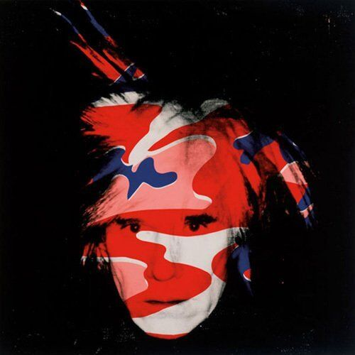 Self Portrait, 1986 red, white & blue camo by Andy Warhol Art Print Poster 23x23