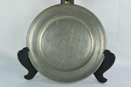 "Superb Antique pewter plate marked, rare, part of collection 9"" [Y8-W6-A8-E8]"