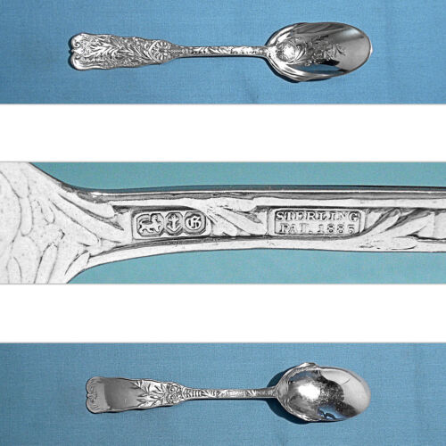 GORHAM STERLING BRIGHT CUT ICE CREAM SPOON(S) ~ ST. CLOUD ~ NO MONO