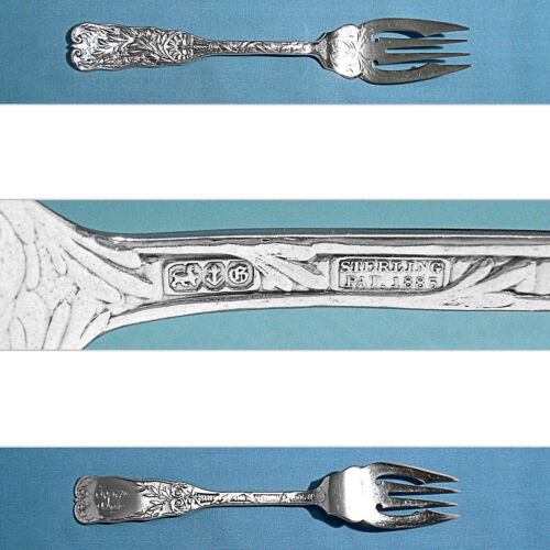 GORHAM STERLING BRIGHT CUT FISH / SALAD FORK(S) ~ ST. CLOUD ~ MONO ER