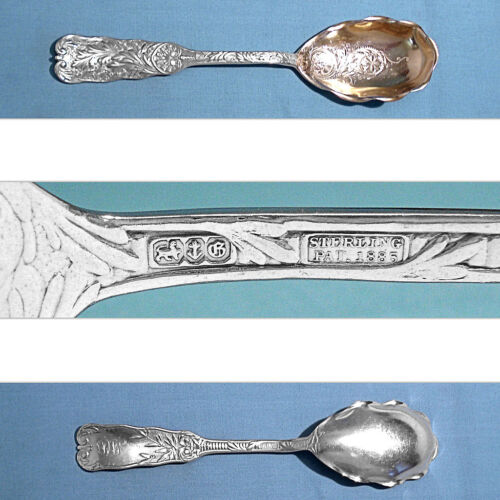 GORHAM STERLING BRIGHT CUT PRESERVE SPOON ~ ST> CLOUD ~ MONO MD