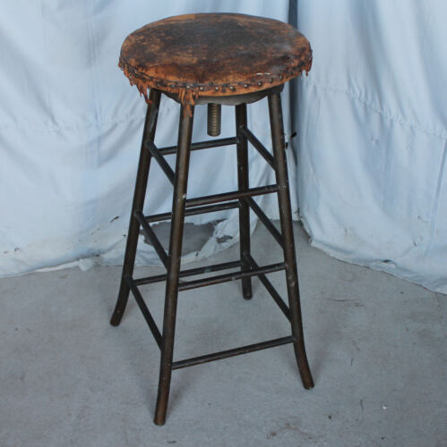 Brass - Bronze Antique Industrial Drafting Stool - Heavy Built