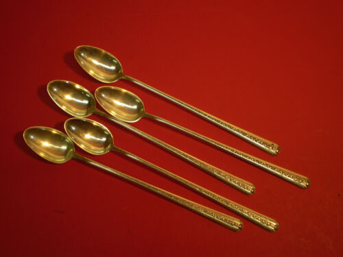 Towle Sterling RAMBLER ROSE 5 Five Iced Tea Spoons