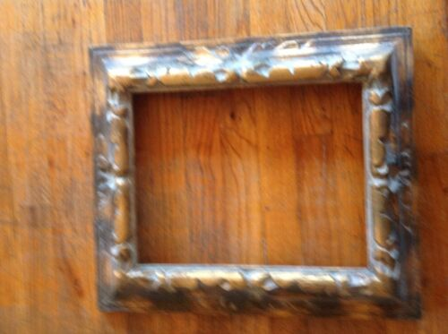 Vintage Mid Century Wood  wooden picture Frame Carved Spanish Mexican Gothic