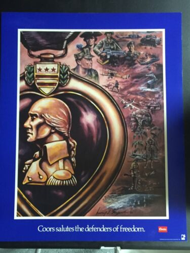 United States US Army USA Purple Heart George Skypeck Artist Coors Large PosterOther Militaria - 135