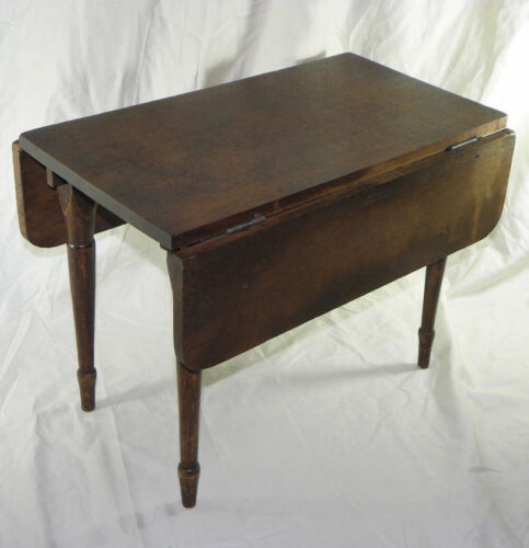 Walnut Child's  Antique Primitive Drop leaf Table - only 12 inches height