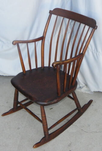 Antique Primitive Windsor style Youth Rocking Chair