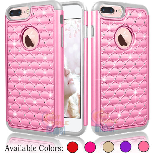 """Bling Crystal Rubber Protective Hard Case Cover for Apple iPhone 7 Plus 5.5"""""""