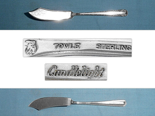 TOWLE STERLING FLAT HANDLE MASTER BUTTER KNIFE ~ CANDLELIGHT ~ NO MONO