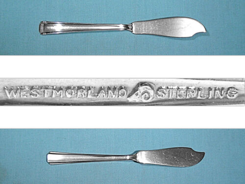 WESTMORLAND STERLING FLAT HANDLE MASTER BUTTER KNIFE ~ JOHN & PRISCILLA ~NO MONO