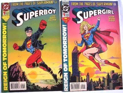 COMICS: DC SUPERBOY #1& SUPERGIRL #1 (From the Pages of Superman) 1st Print 1994