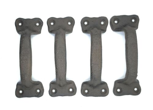 Cast Iron Antique Style Rustic Barn Gate Pull Shed Door Handles Set of 4 New