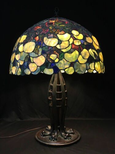 Massive Hydrangea Lamp Shade on a Huge Jacob's Ladder Cats Paw Base