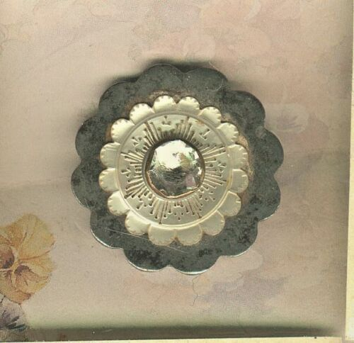 18th Century Scalloped Steel With Carved Mother of Pearl & Jeweled Pinshank