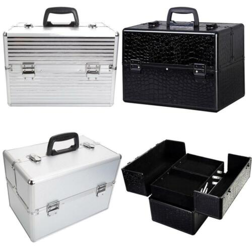 "Pro 14""x9""x10""Aluminum Makeup Train Case Jewelry Box Cosmetic Organizer 3 Style"