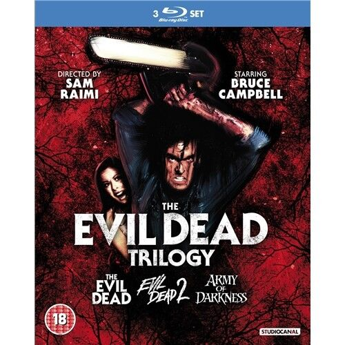 The Evil Dead Trilogy 1+2+3 New Blu-ray RegB Army of Darkeness Bruce Campbell