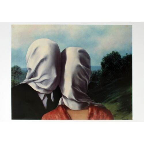 RENE MAGRITTE - The Lovers (Les Amants) Art Print Offset Lithograph Poster 39x28