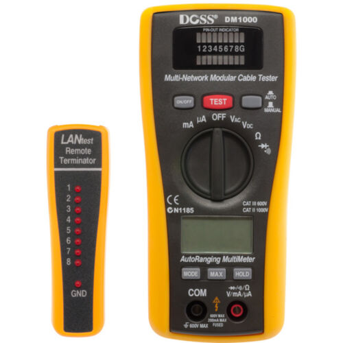 DOSS DM1000 2-in-1 LAN tester And multimeter to measure DC/AC Voltage/Current