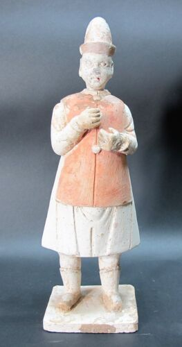 """Finely Detailed 11"""" CHINESE MING DYNASTY (1368 1644) Art Pottery Attendant"""