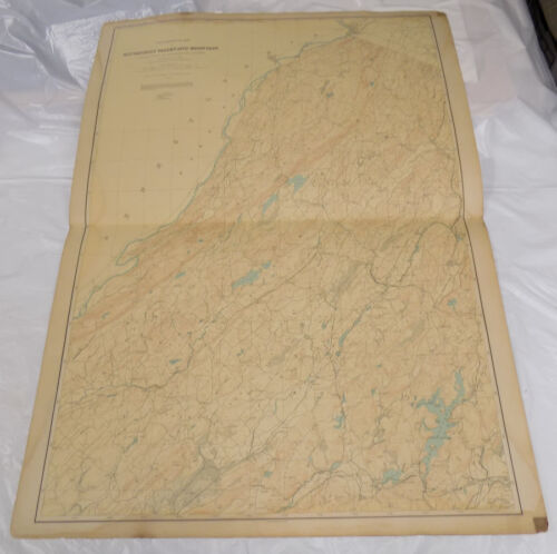 "1888 Topographical Map of New Jersey/KITTATINNY VALLEY & MOUNTAIN/27x36""/SCARCE"