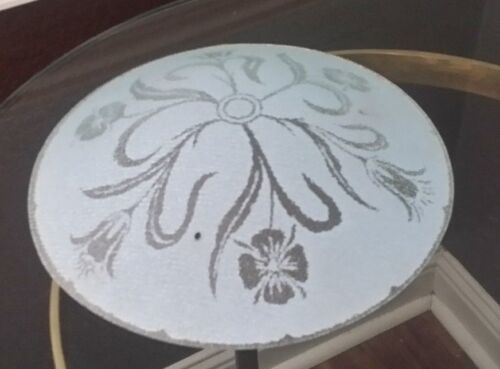 """Antique Mid Century Glass Round Ceiling Light Shade Tulips 3 Hole Dome Top 12.5"""""""