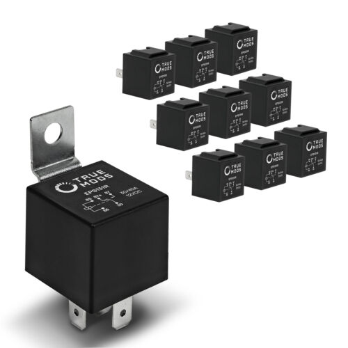 10 Pack - OLS 12V 30/40 Amp 5-Pin SPDT Bosch Style Electrical Relays