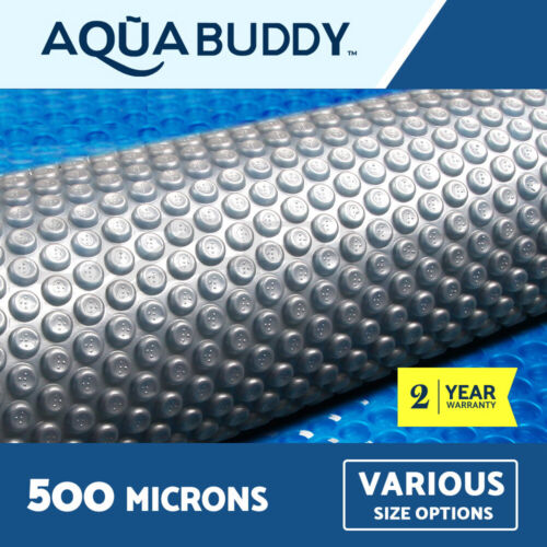 Aquabuddy Solar Swimming Pool Cover 500 Micron Outdoor Bubble Blanket 8 SIZES <br/> High quality LDPE✔ UV-resistant✔ Safety and durable✔