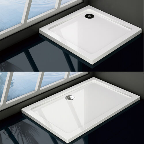 Shower Tray Enclosure Wet Room Slimline Square Rectangle Stone Tray + Free Waste <br/> |10% OFF|Lowest Price|Various Sizes|FAST DELIVERY|
