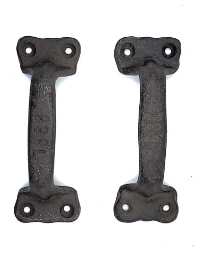 Cast Iron Antique Style Rustic Barn Gate Pull Shed Door Handles Set of 2 New