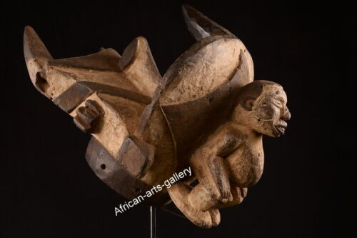 1275 Antique Helmet mask the Igbo Nigeria Africa