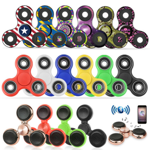 Tri Fidget Hand Spinner Focus Desk Toy EDC ADHD Autism KIDS ADULT US STOCKING <br/> [LONG-LASTING SPINS] [NO LOUD NOISE] [HIGH QUALITY]